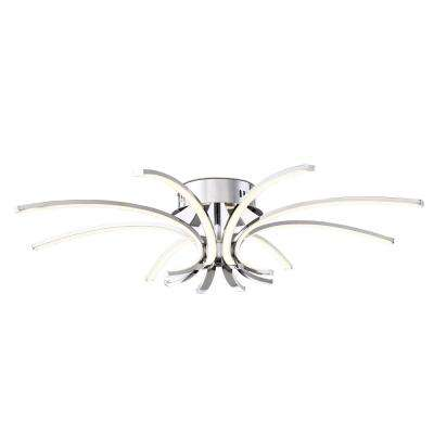 Spruzzo Collection 48-Watt Chrome Integrated LED Flushmount