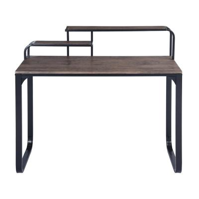 Romont Brown Computer Desk with Metal Frame