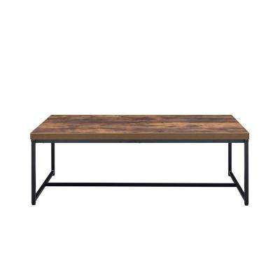 Bob Weathered Oak and Black Coffee Table