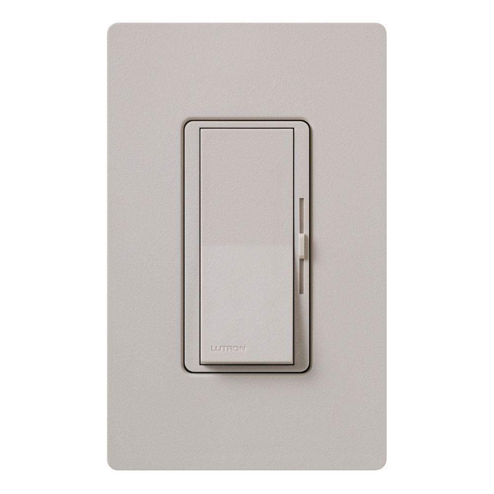 Lutron Diva Magnetic Low Voltage Dimmer, 450-Watt, Single-Pole or 3-Way, Taupe