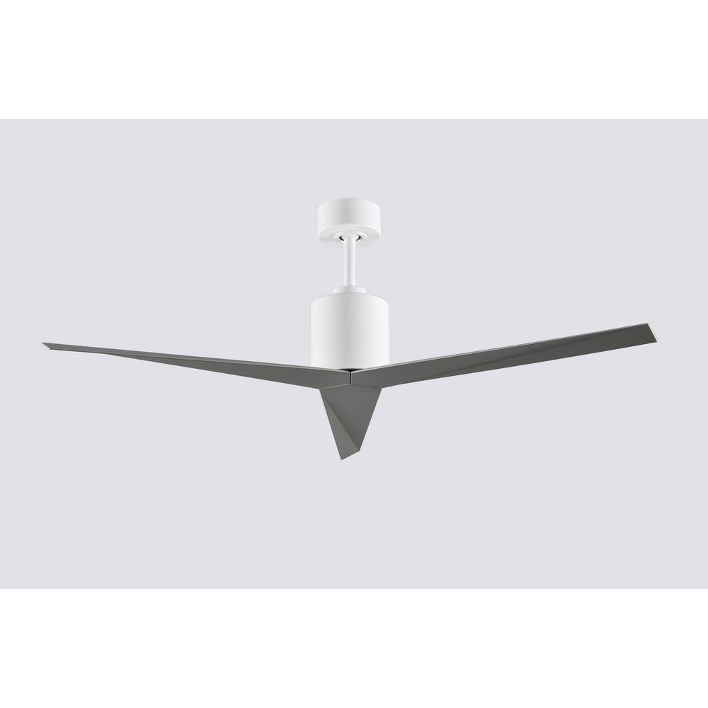 Radionic Hi Tech Braxley 56 in. 3-Blade Gloss White Ceiling Fan