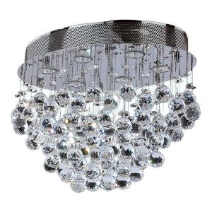 Worldwide Lighting Icicle Collection 6-Light Chrome Ceiling Light with Clear Crystal by Worldwide Lighting