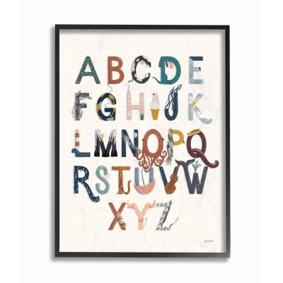 """24 in. x 30 in. """"Alphabets Instruments Kids Nursery"""" by Becky Thorns Framed Wall Art"""
