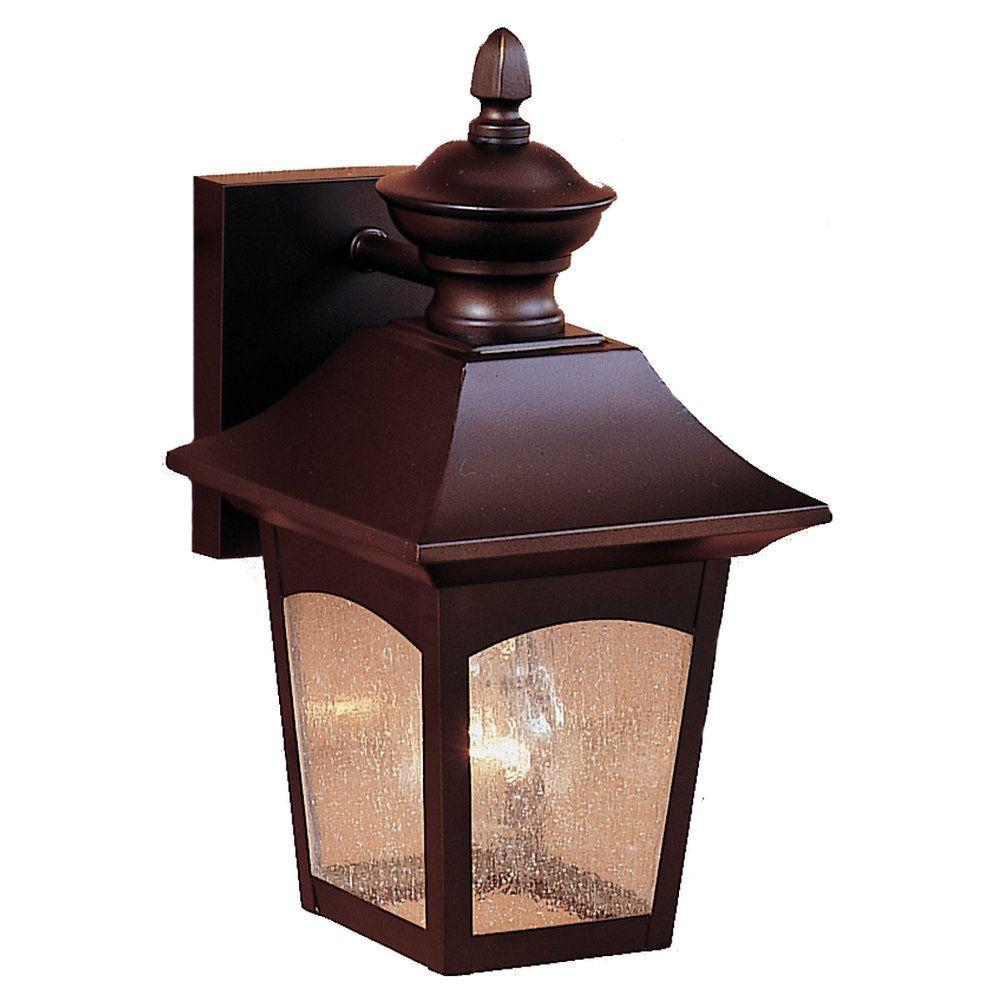 Homestead 1-Light Oil-Rubbed Bronze Outdoor Wall Lantern