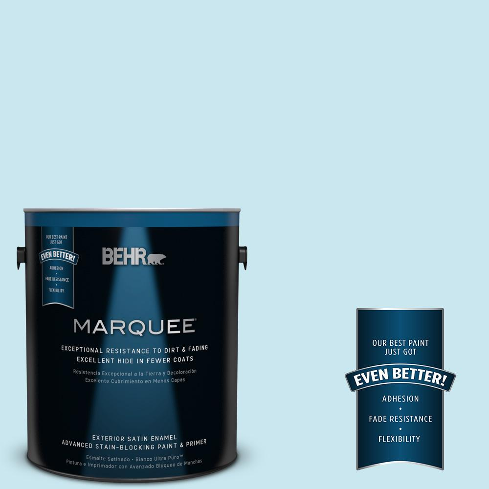 BEHR MARQUEE 1-gal. #530C-2 Clear Water Satin Enamel Exterior Paint