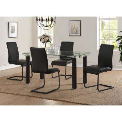 Gordias Black PU Side Chair