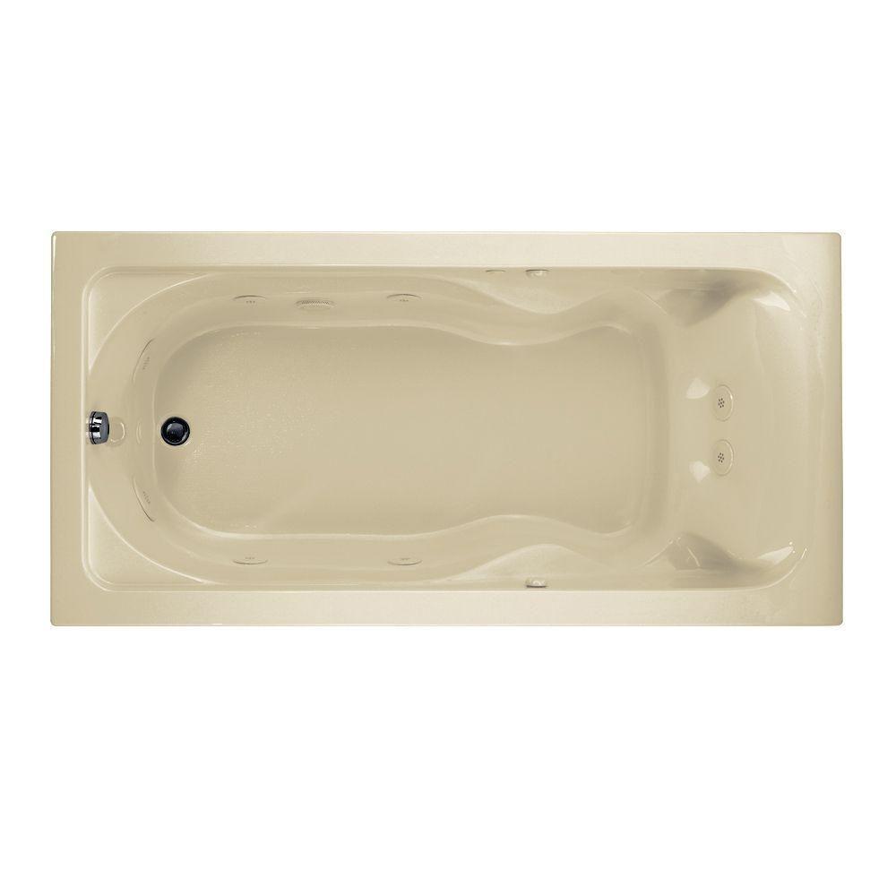 American Standard Cadet 6 ft. x 36 in. Reversible Drain EverClean Whirlpool Tub in Linen