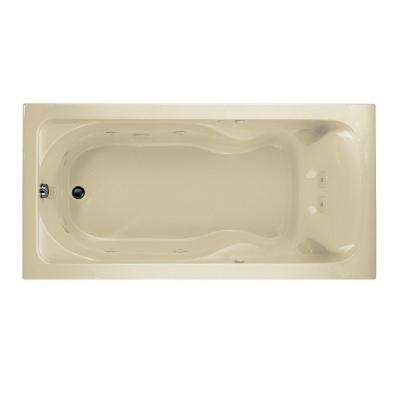 Cadet 72 in. x 36 in. Reversible Drain EverClean Whirlpool Tub in Linen