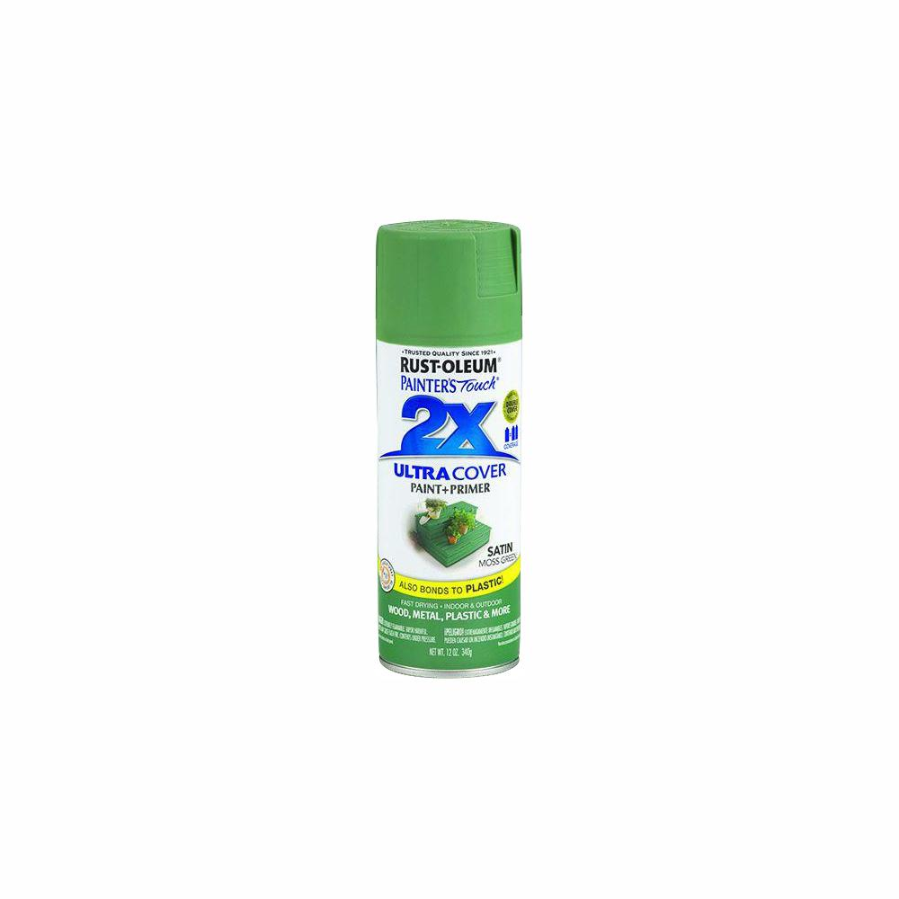 Rust-Oleum Painter's Touch 2X 12 oz. Satin Moss Green General Purpose Spray Paint (6-Pack)