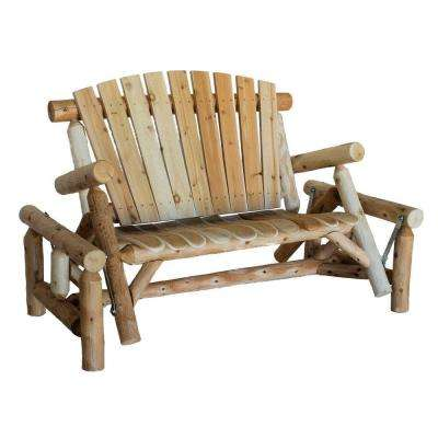 Patio Glider with Contoured Seat Slats