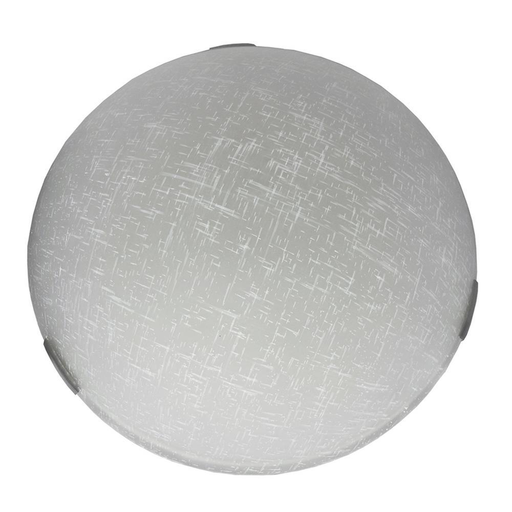 2-Light Satin Steel Flushmount