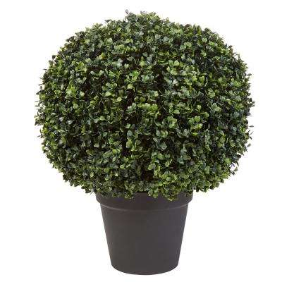 23 in. Realistic Faux Boxwood Topiary