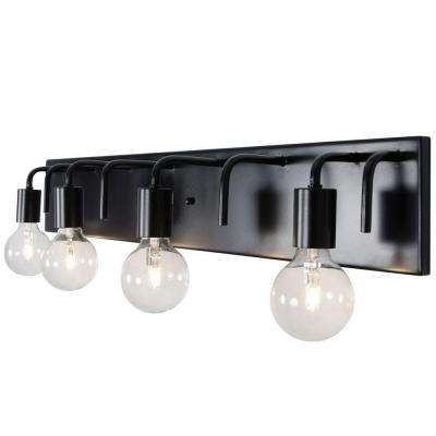 Socket-To-Me 4-Light Black Vanity Light