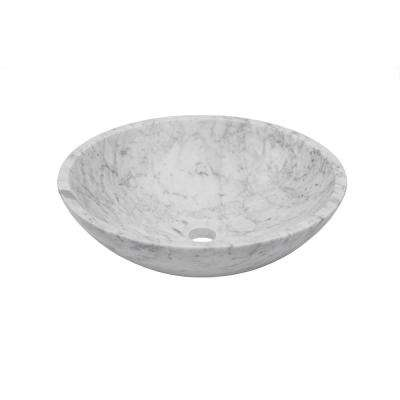 Stone Vessel Sink in Carerra White Marble