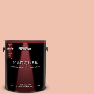 Behr marquee 1 gal m180 3 flamingo feather flat exterior for Flamingo feather paint