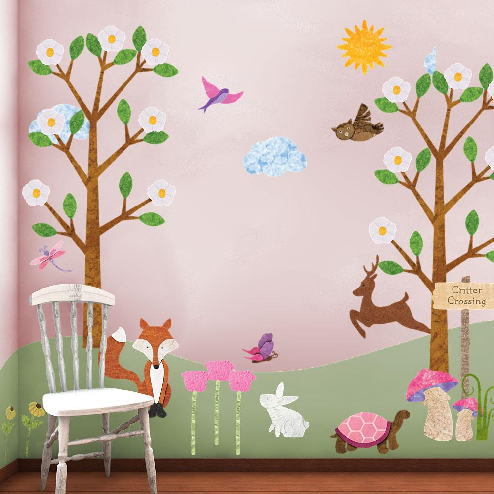 Forest Animals Multi Peel and Stick Removable Wall Decals Woodland