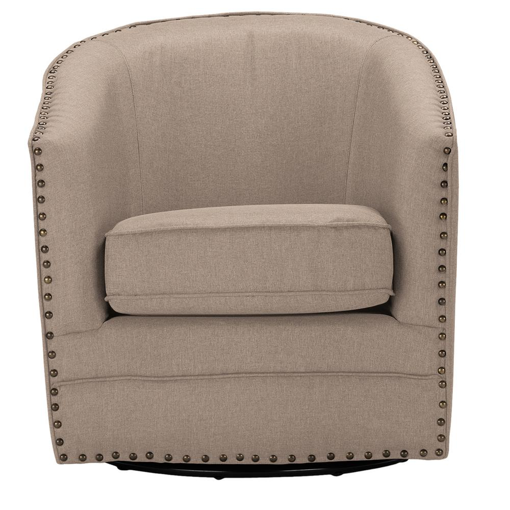 Porter Contemporary Beige Fabric Upholstered Accent Chair