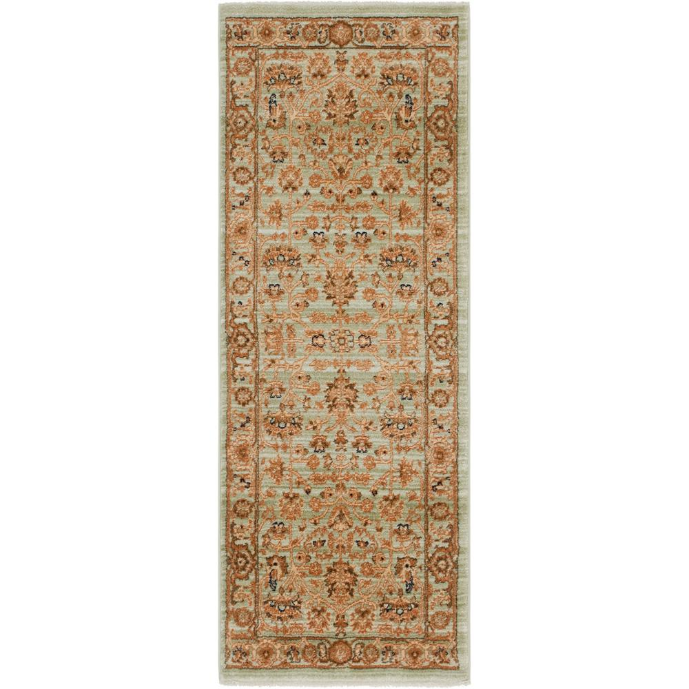 Graham And Green Emperor Rug: Unique Loom Light Green 2 Ft. 2 In. X 6 Ft. Graham Rug
