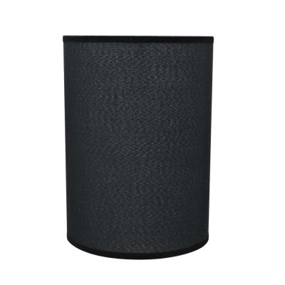 8 in. x 11 in. Black Hardback Drum/Cylinder Lamp Shade