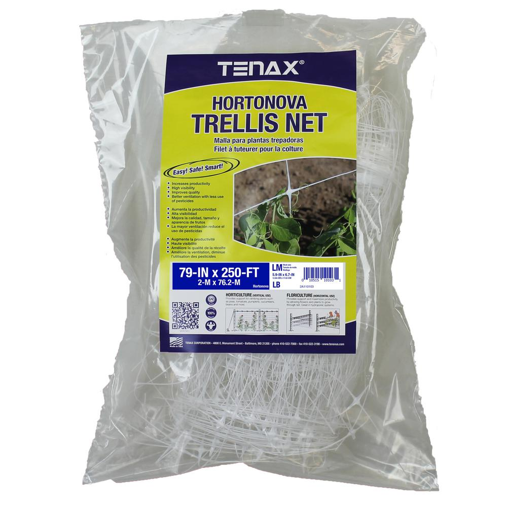 Tenax 79 in. x 250 ft. White Hortonova Plant Trellis Net