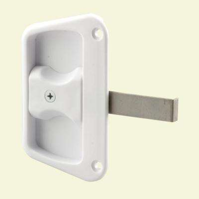 White Sliding Screen Door Latch with Screw