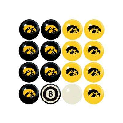 University Of Iowa Home Versus Away Billiard Ball Set