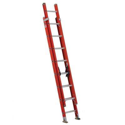 16 ft. Fiberglass Extension Ladder with 300 lbs. Load Capacity Type 1A Duty Rating