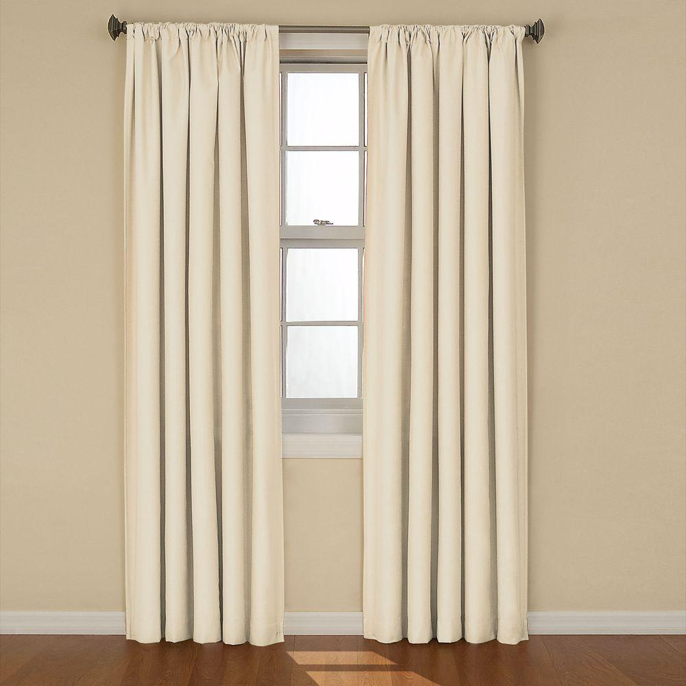 Eclipse Kendall Blackout Ivory Curtain Panel, 84 In