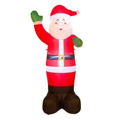 8.14 ft. H Lighted Inflatable Santa Decor