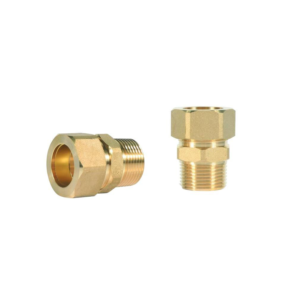 1//4-Inch OD x 1//4 Male NPT Brass Compression Union
