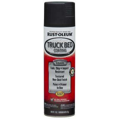 15 oz. Professional Grade Black Truck Bed Coating Spray Paint & Primer in One (6-Pack)