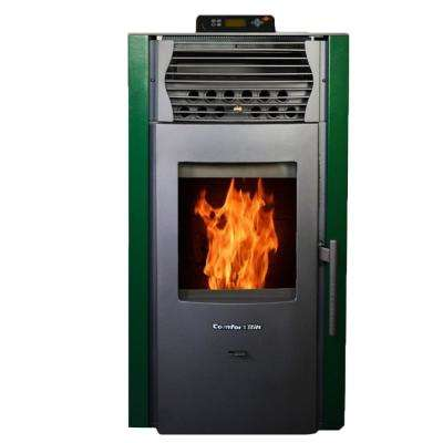 2,200 sq. ft. EPA Certified Pellet Stove with Auto Ignition and Programmable Thermostat in Green