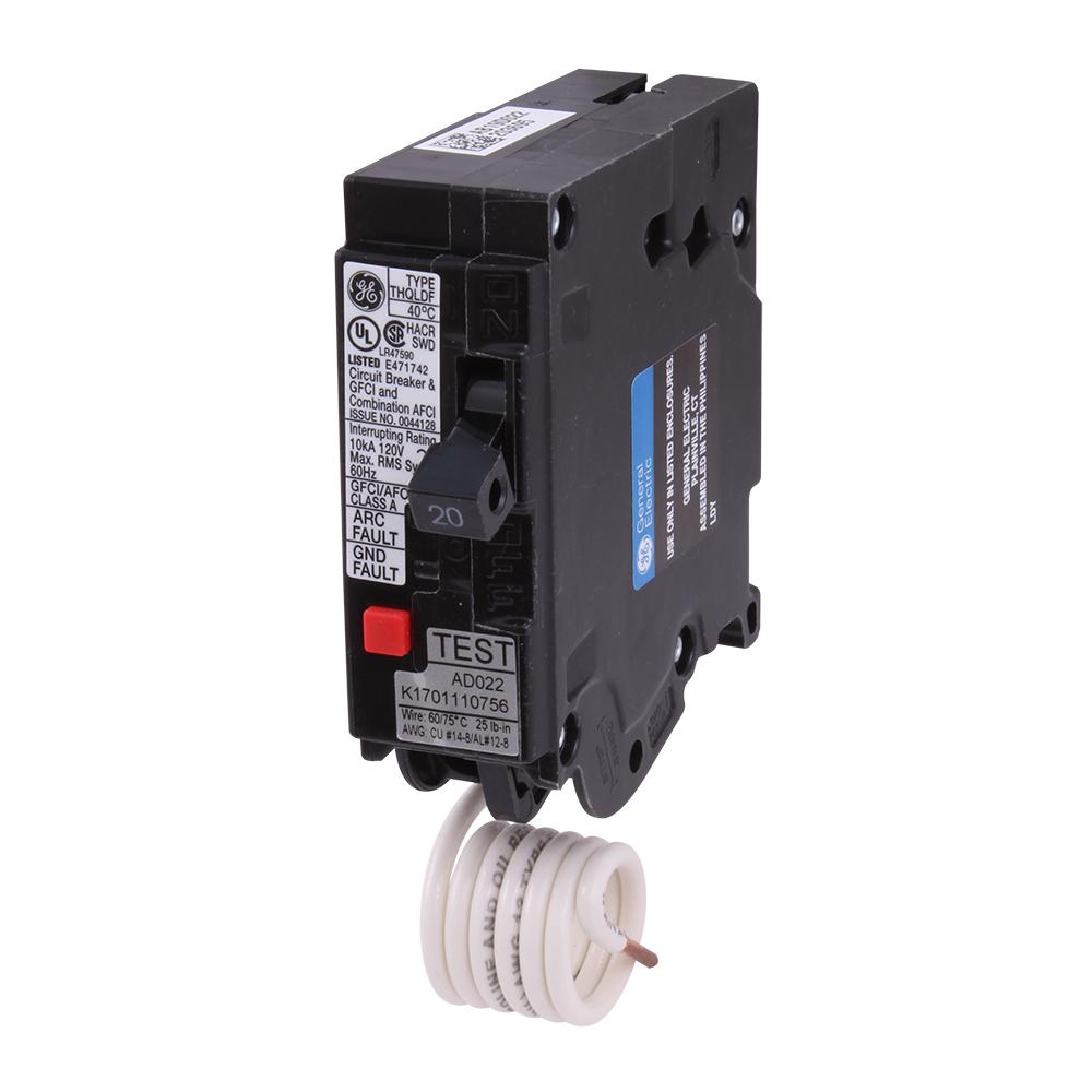 GE Q-Line 20 Amp 1/2 in. Single-Pole Circuit Breaker-THQP120 - The ...