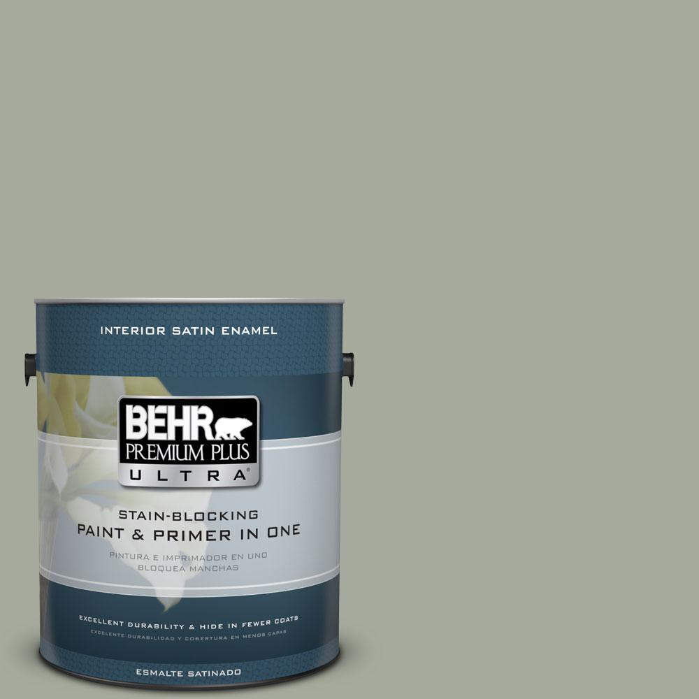 BEHR Premium Plus Ultra Home Decorators Collection 1-gal. #HDC-AC-18 Garden Promenade Satin Enamel Interior Paint