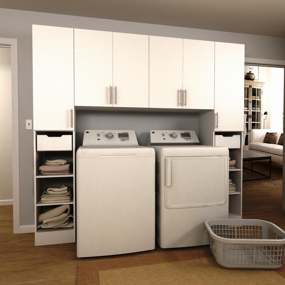 Modifi horizon 90 in w white tower storage laundry Laundry room storage