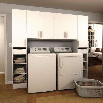 Horizon 90 in. W White Tower Storage Laundry Cabinet Kit