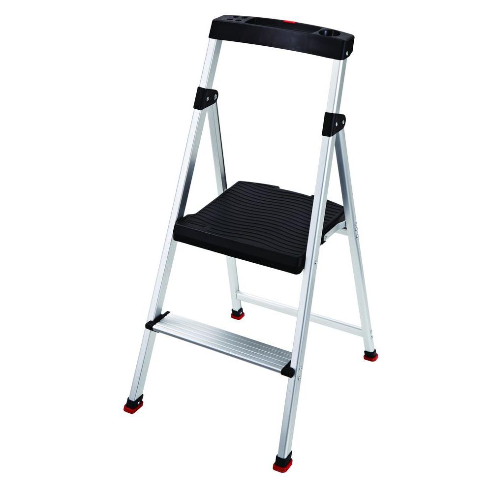 Rubbermaid 2-Step Aluminum Step Stool with 225 lb. Load Capacity Type II Duty  sc 1 st  The Home Depot & Rubbermaid 2-Step Aluminum Step Stool with 225 lb. Load Capacity ... islam-shia.org