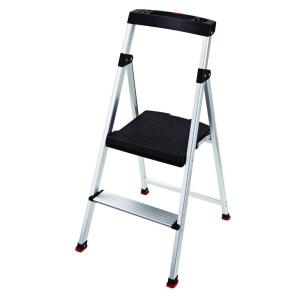 Rubbermaid 2-Step Aluminum Step Stool with 225 lb. Load Capacity Type II Duty Rating-RMA-2-COM - The Home Depot  sc 1 st  The Home Depot : rubbermaid stepping stool - islam-shia.org