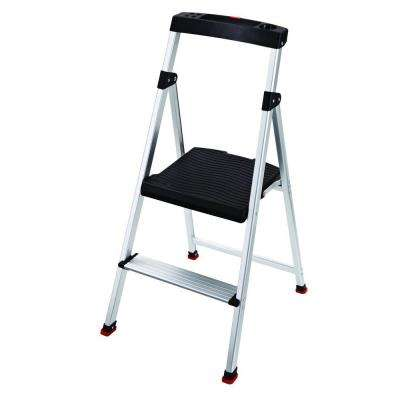 2-Step Aluminum Step Stool ...  sc 1 st  The Home Depot : steps stool - islam-shia.org