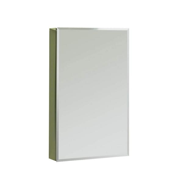 SV1230 12 in. x 30 in. Recessed or Surface Mount Medicine Cabinet in Single View Beveled Mirror