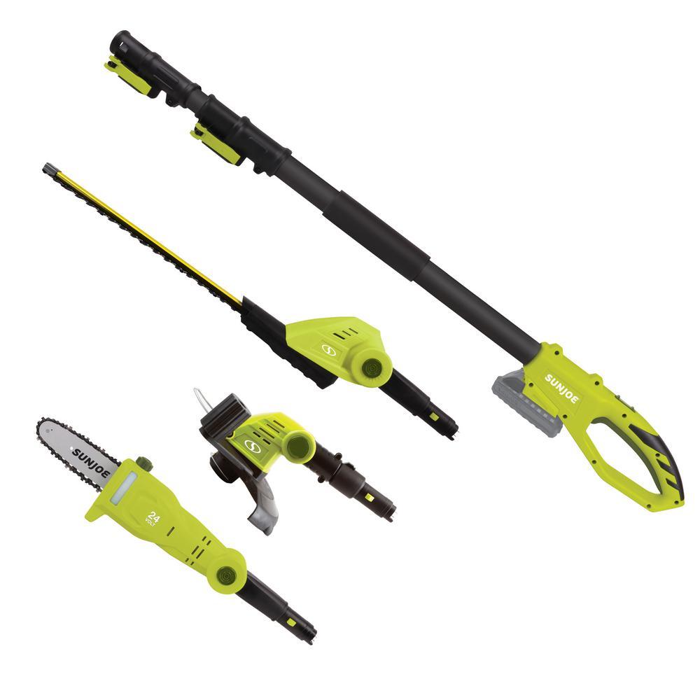 Sun Joe 24-Volt Cordless Electric Hedge Trimmer, Pole Saw, Grass Trimmer by Sun Joe