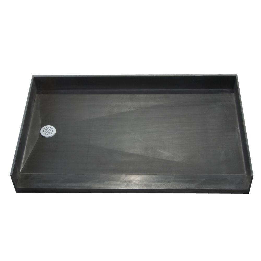 Tile Redi 33 in. x 54 in. Barrier Free Shower Base with Left Drain ...