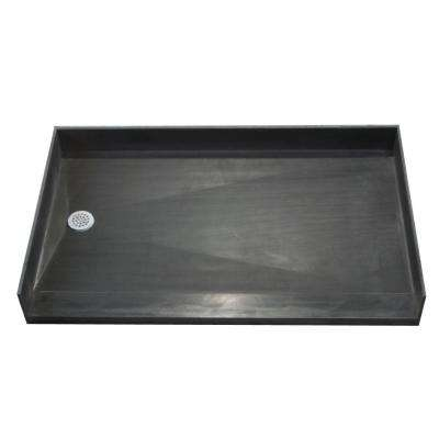 37 in. x 54 in. Barrier Free Shower Base with Left Drain