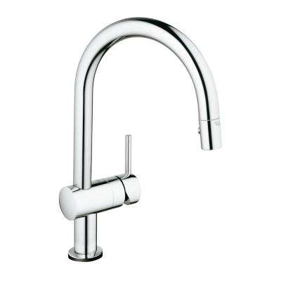 Minta Touch Single-Handle Pull-Down Sprayer Kitchen Faucet in StarLight Chrome