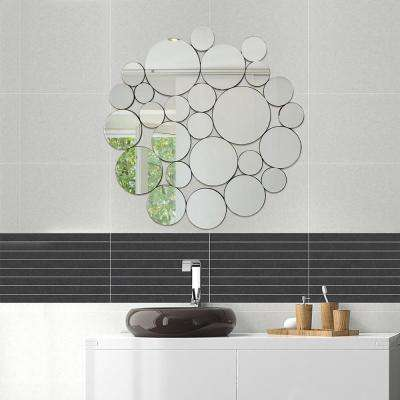 39 x 40.5 in. NICKLES and DIMES Ornate Round Wall Mirror Decorative Design