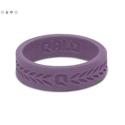 Women's Lilac Laurel Q2X Silicone Wedding Ring