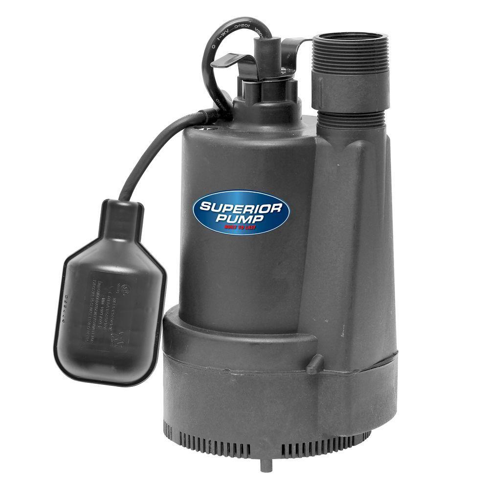 Superior Pump 1/3 HP Submersible Thermoplastic Sump Pump