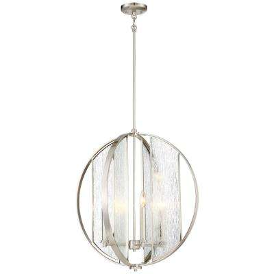 Via Capri 4-Light Brushed Nickel Chandelier
