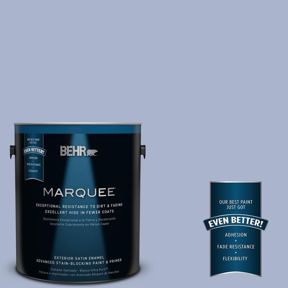 BEHR MARQUEE 1-gal. #PPU15-14 Ballroom Blue Satin Enamel Exterior Paint