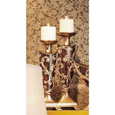 14 in. and 16 in. Odysseus Baroque Candle Holder (Set of 2)